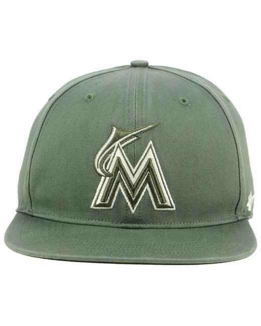 4ee29167caf29 ... 47 Brand - Green Miami Marlins Moss Snapback Cap for Men - Lyst ...