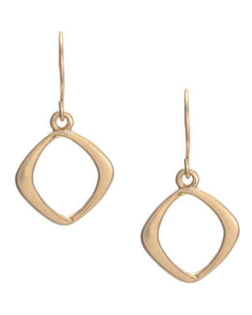 Kenneth Cole | Metallic Earrings, Gold-tone Diamond Drop | Lyst