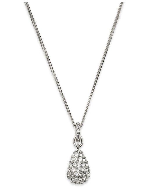 Swarovski | Metallic Pendant, Pave Crystal Teardrop | Lyst