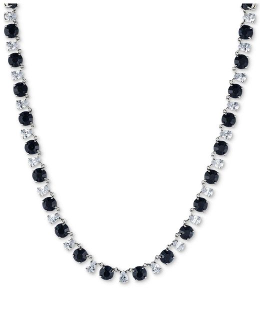 Carolee | Blue Silver-tone Stone & Crystal All-around Collar Necklace | Lyst