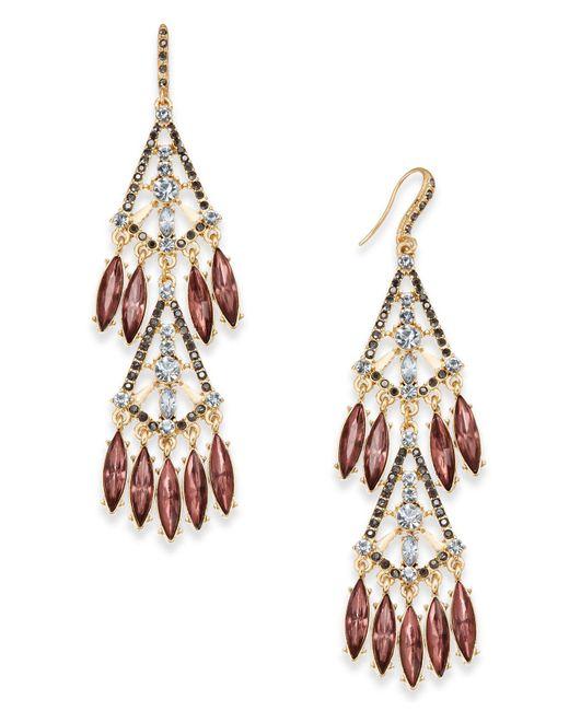 INC International Concepts | Metallic Hematite-tone Shaky Stone Chandelier Earrings | Lyst