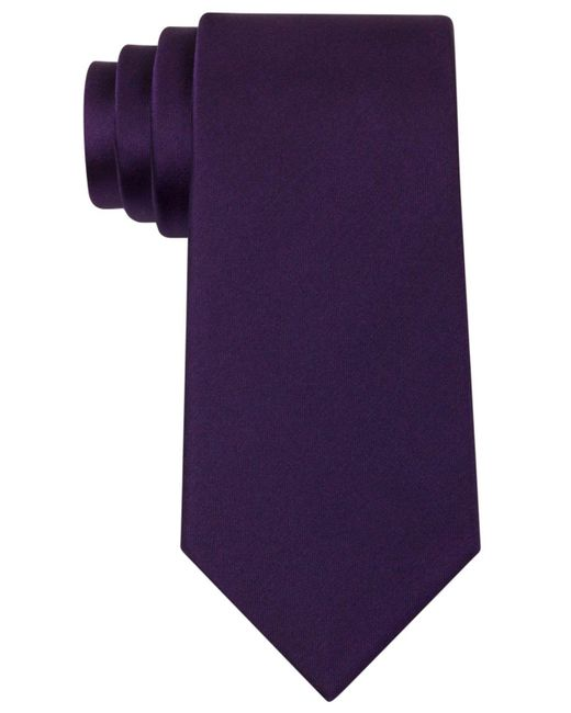 Kenneth Cole Reaction - Purple Slim Solid Tie for Men - Lyst