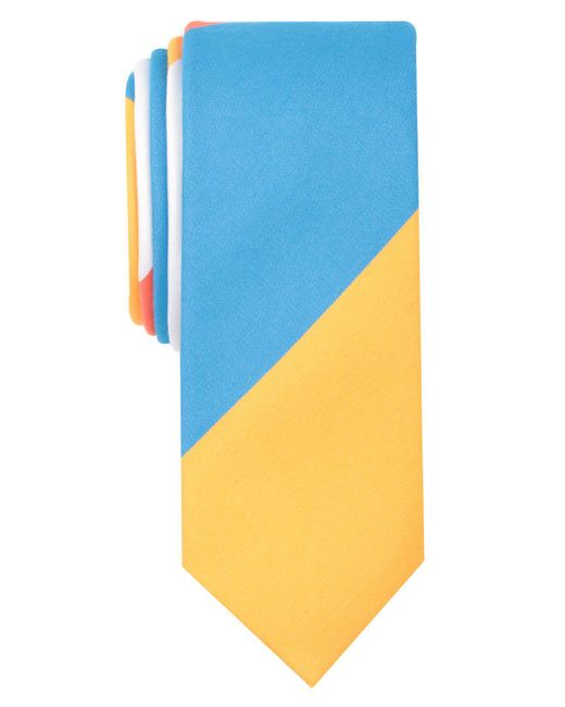 Original Penguin - Blue Mile Stripe Skinny Tie for Men - Lyst