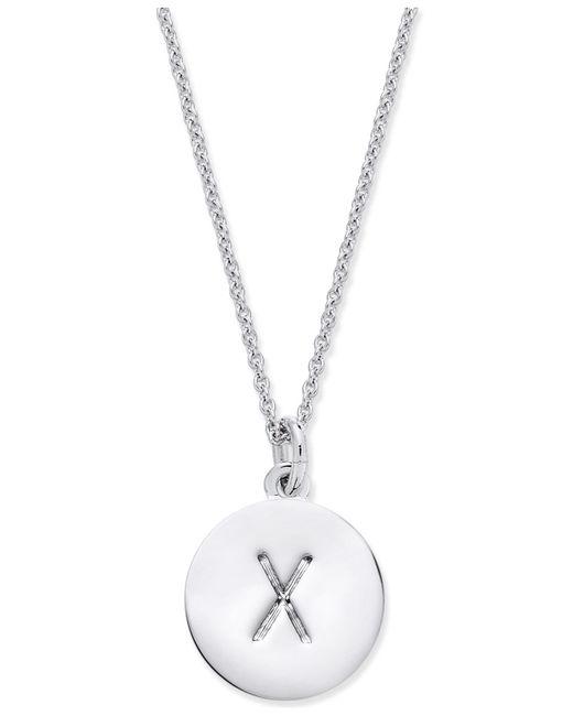 "Kate Spade - Metallic Silver-tone ""k"" Disc Pendant Necklace - Lyst"