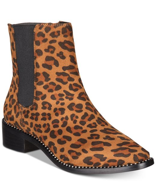 Bebe - Brown Midolo Chelsea Booties - Lyst