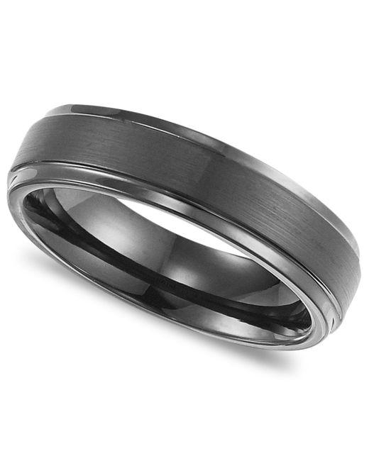 Triton Wedding Band Black Tungsten Carbide 8mm: Triton Men's Black Tungsten Carbide Ring, Comfort Fit