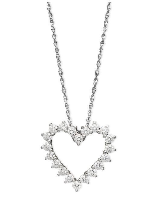 Arabella | 14k White Gold Necklace, Swarovski Zirconia Heart Pendant (1 Ct. T.w.) | Lyst