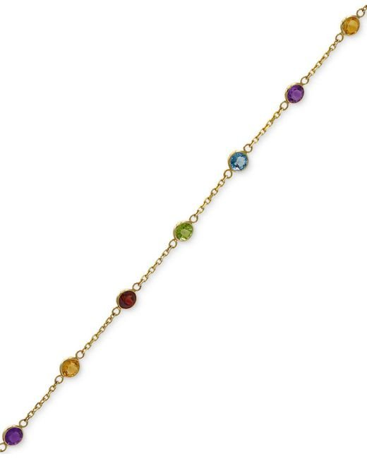 Effy Collection - Metallic Multi-gemstone Link Bracelet (2-1/2 Ct. T.w.) In 14k Gold - Lyst