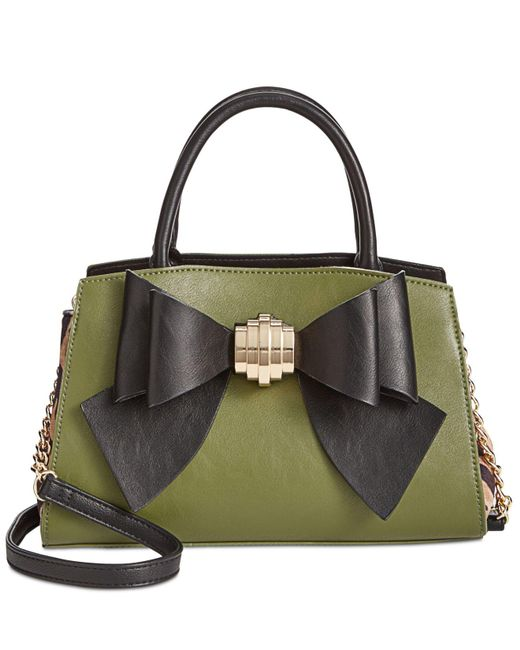 Betsey Johnson | Green Removable-bow Medium Satchel | Lyst