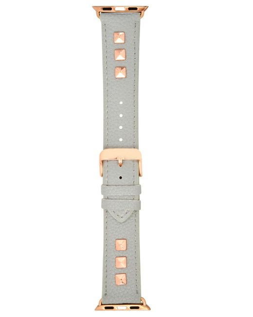 INC International Concepts - Gray Studded Faux Leather Apple Watch® Strap, Created For Macy's - Lyst