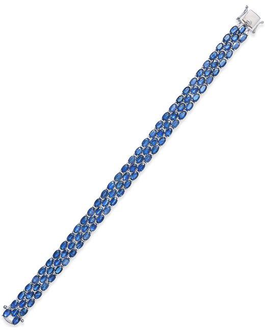 Macy's - Metallic Sapphire Three-row Bracelet (25 Ct. T.w.) In Sterling Silver - Lyst