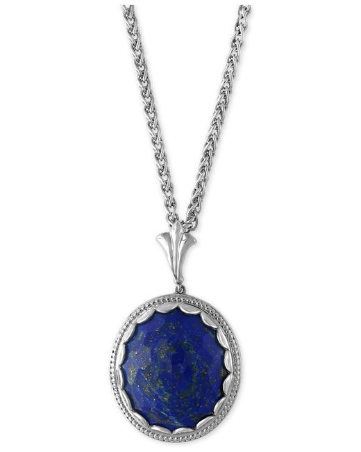 Effy Collection - Metallic Lapis Lazuli Pendant Necklace (19-3/4 Ct. T.w.) In Sterling Silver - Lyst