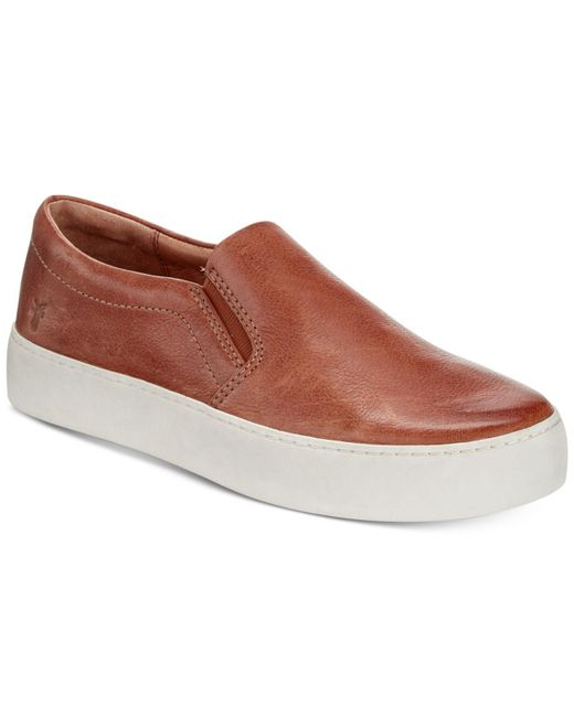 Frye - Brown Women's Lena Slip-on Sneakers - Lyst