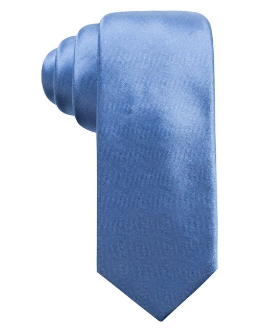 Alfani - Blue Solid Silk Slim Tie, Created For Macy's for Men - Lyst