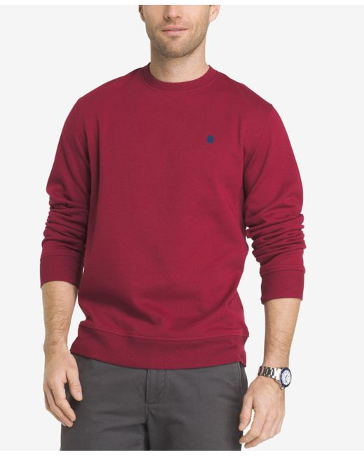 Izod | Red Men's Advantage Fleece Shirt for Men | Lyst
