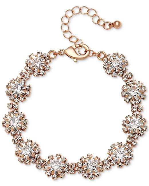 Badgley Mischka - Metallic Crystal Cluster Link Bracelet - Lyst