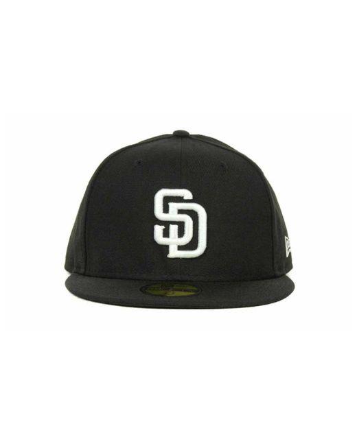 watch 50b91 8fdce ... KTZ - Black San Diego Padres Mlb B-dub 59fifty Cap for Men - Lyst ...