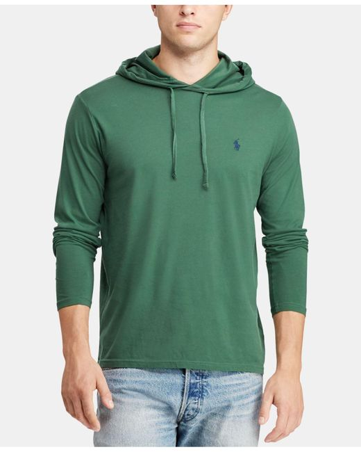 47f3035aa Polo Ralph Lauren Jersey T-shirt Hoodie in Green for Men - Save 63 ...
