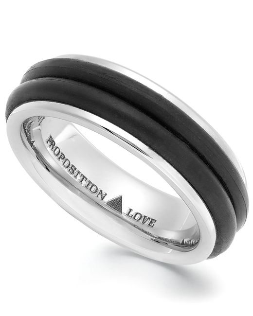 Proposition Love - Black Cobalt And Rubber Accent Ring for Men - Lyst