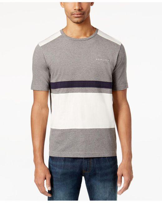 Sean John | Gray Men's Pieced Colorblocked T-shirt for Men | Lyst