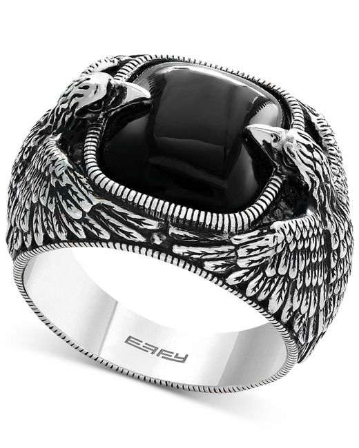 Effy Collection - Metallic Men's Onyx Eagle Ring (10 Ct. T.w.) In Sterling Silver for Men - Lyst