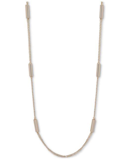 DKNY - Metallic Gold-tone Bar Strand Necklace - Lyst