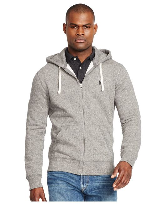 Polo Ralph Lauren | Black Men's Hoodie, Core Full Zip Hooded Fleece for Men | Lyst
