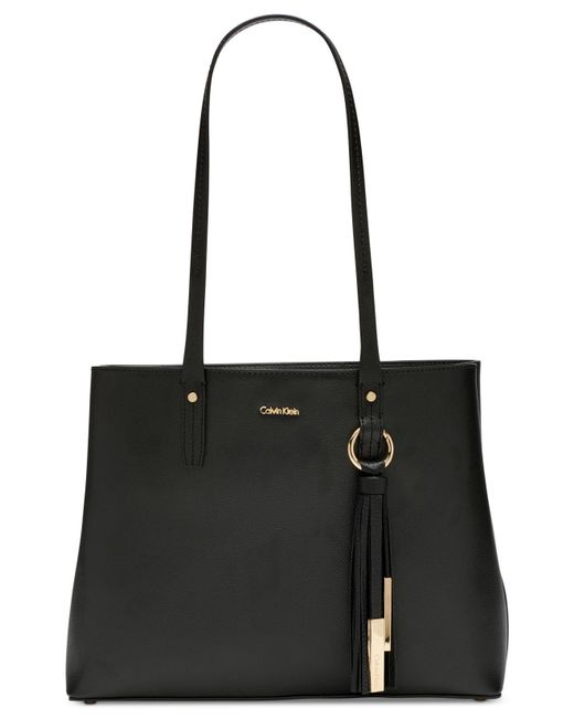CALVIN KLEIN 205W39NYC - Black Maggie Leather Tote - Lyst