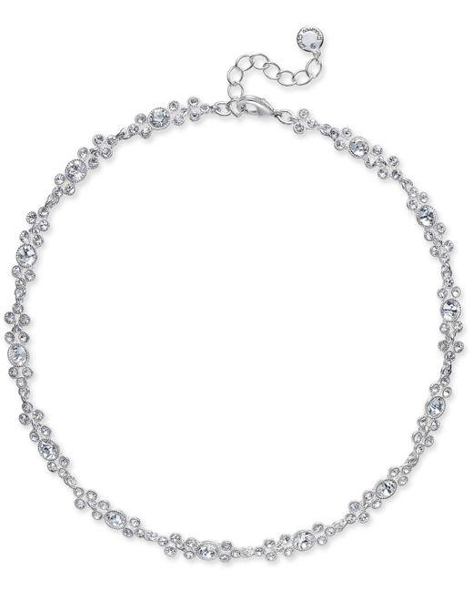 Charter Club | Metallic Silver-tone Crystal Collar Necklace | Lyst
