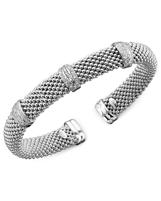 Macy's | Metallic Diamond Bracelet In Sterling Silver (1/3 Ct. T.w.) | Lyst