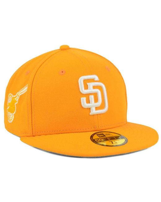 newest 6aaaf ee7a4 ... top quality ktz yellow san diego padres c dub patch 59fifty fitted cap  for men 2aaed