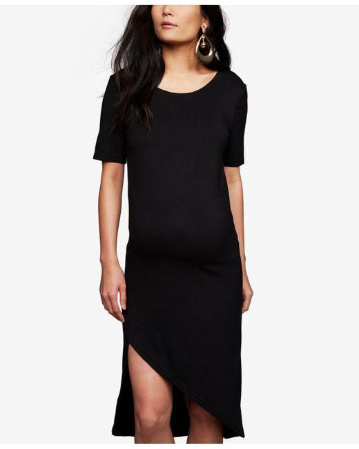 BB Dakota - Black Maternity Asymmetrical Dress - Lyst