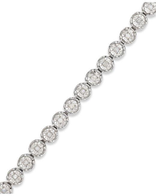 Macy's - Metallic Diamond Tennis Bracelet In Sterling Silver (1/2 Ct. T.w.) - Lyst