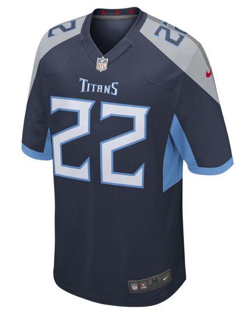 ed77b7e23 ... Nike - Blue Derrick Henry Tennessee Titans Game Jersey for Men - Lyst