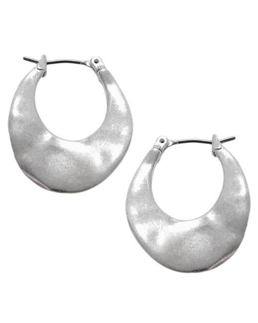 Kenneth Cole | Metallic Earrings, Silver-tone Small Hoop Earrings | Lyst