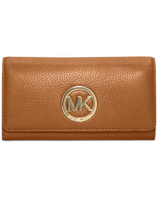 Michael Kors   Brown Fulton Carryall Wallet   Lyst