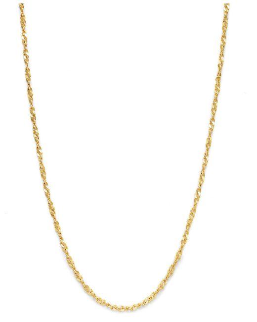 Giani Bernini - Metallic 18k Gold Over Sterling Silver Necklace, Diamond-cut Singapore Chain - Lyst