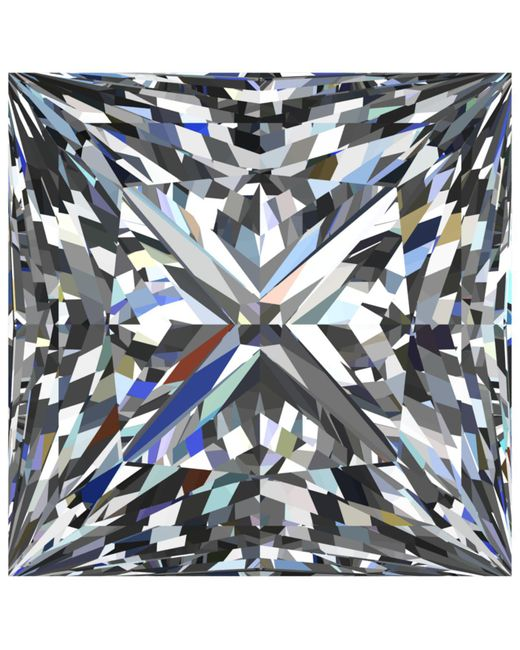 Macy's | Multicolor Gia Certified Diamond Princess (1-1/2 Ct. T.w.) | Lyst