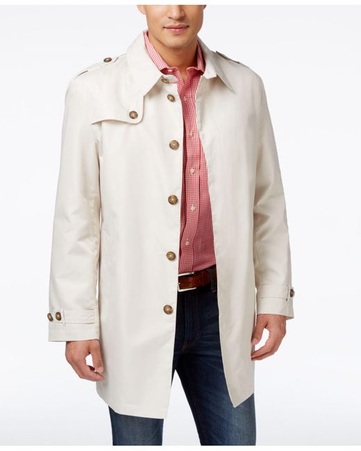Tommy Hilfiger - White Men's Fletch Solid Rain Coat for Men - Lyst