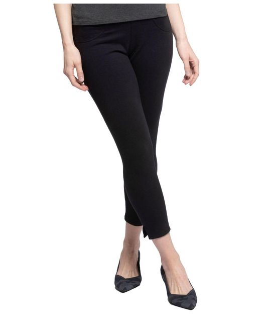 7668a4f9159ece Yala Designs - Black Yala Audrey Organic Cotton And Viscose From Bamboo  Cropped Pull-on ...