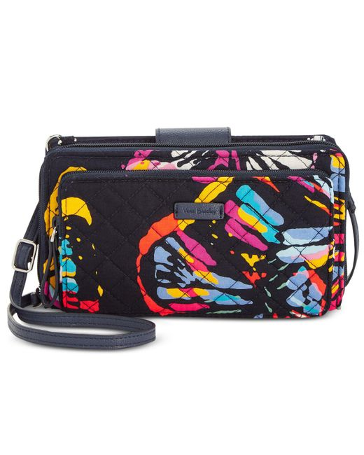 Vera Bradley - Blue Iconic Deluxe All Together Crossbody - Lyst