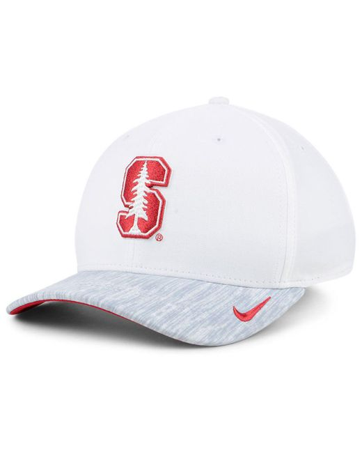 e64195ba ... low price nike white stanford cardinal arobill swoosh flex cap for men  lyst 661a0 a1ba6