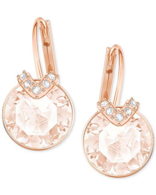 Swarovski - Metallic Clear & Colored Crystal Drop Earrings - Lyst