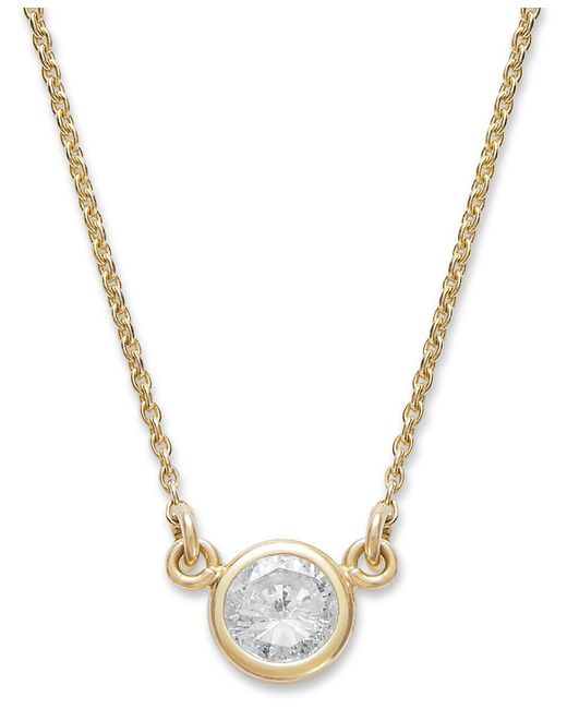 macys jewelry sale macy s bezel set pendant necklace 1 5 ct t w 218