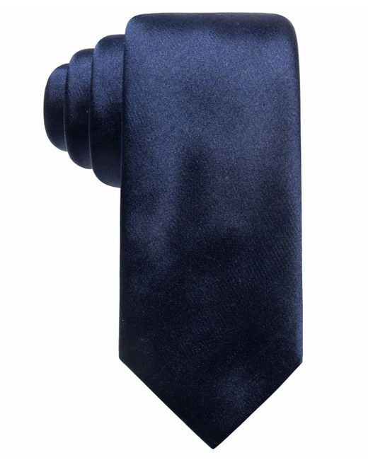 Alfani - Blue Satin Solid Slim Silk Tie, Created For Macy's for Men - Lyst