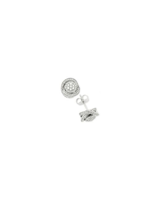 Macy's - Metallic Diamond Fancy Stud Earrings (1/2 Ct. T.w.) In Sterling Silver - Lyst