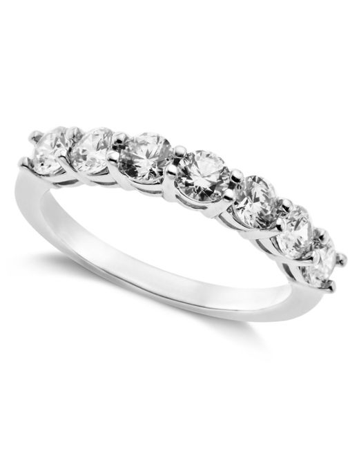 Arabella | Metallic Sterling Silver Ring, Swarovski Zirconia 7-stone Ring (2-1/6 Ct. T.w.) | Lyst