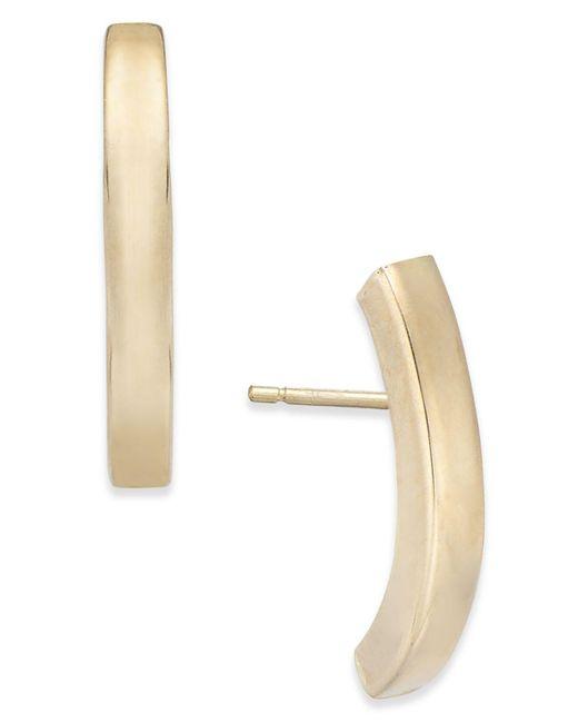 Macy's - Metallic Stick Linear Earrings In 10k Gold - Lyst