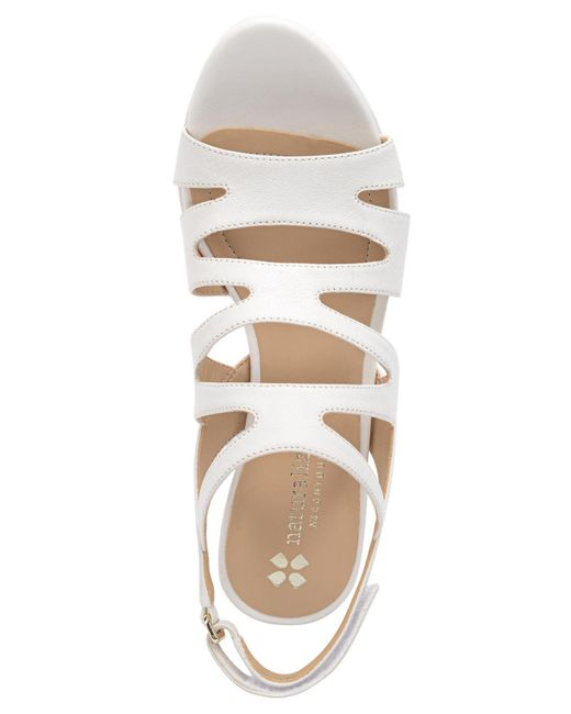 82f7b382391 Lyst - Naturalizer Pressely Platform Dress Sandal in White - Save 11%