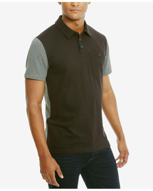 Kenneth Cole Reaction | Black Men's Colorblocked Stretch Polo for Men | Lyst